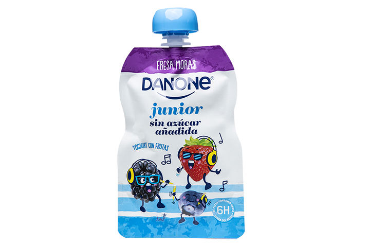 Cheerpack Danone shaped pouch