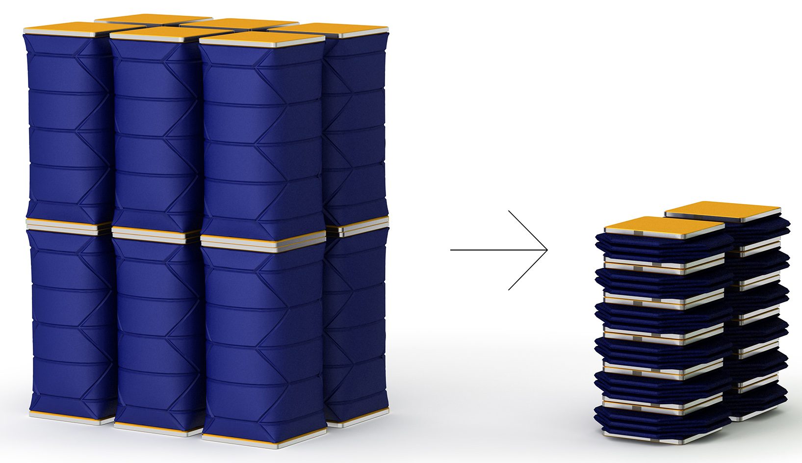 DiFOLD Reusable Packaging Concepts Drum Barrel