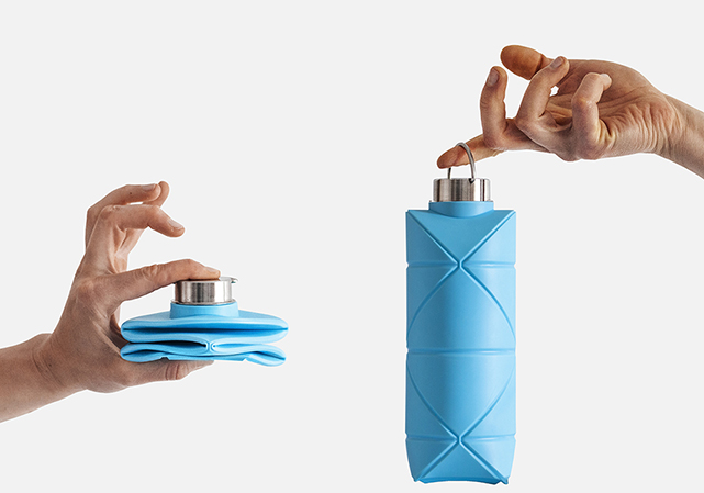 DiFOLD Origami Bottle Folded and Unfolded