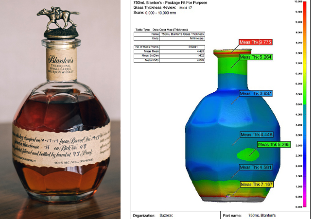 Sazerac Blantons Bottle and Scan