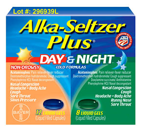 Alka Seltzer Day and Night package recalled