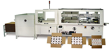 ABC case packer, packaging equipment