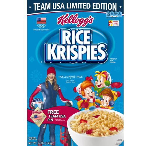 Kellogg's athlete boxes for 2014 Winter Games