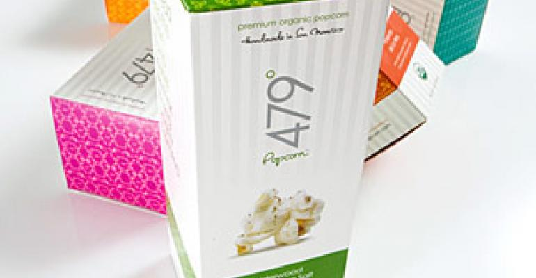 New popcorn brand makes its mark with stylish packaging