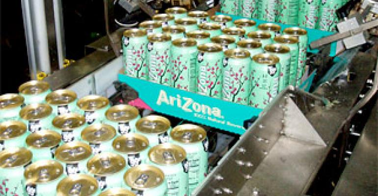 Packaging machinery: New tray packer cuts changeover time for AriZona Beverages