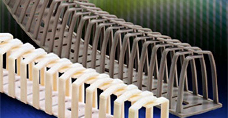 Single-piece flexible wire duct