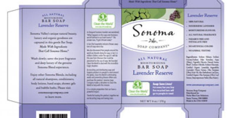 Philanthropic soap packaging
