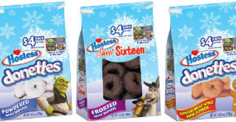 Hostess snacks celebrate the holidays with Shrek limited-edition packaging