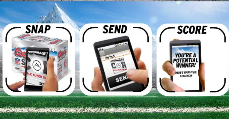 Coors Light taps on-pack SnapTag for Super Bowl XLV promo