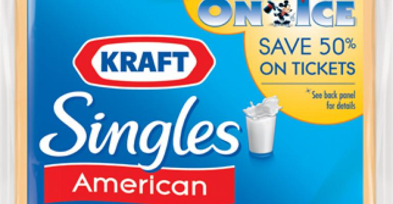 Packaging for Kraft Singles delivers discount for Disney shows