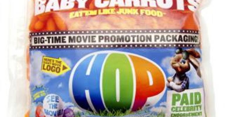 Baby carrots go Hollywood