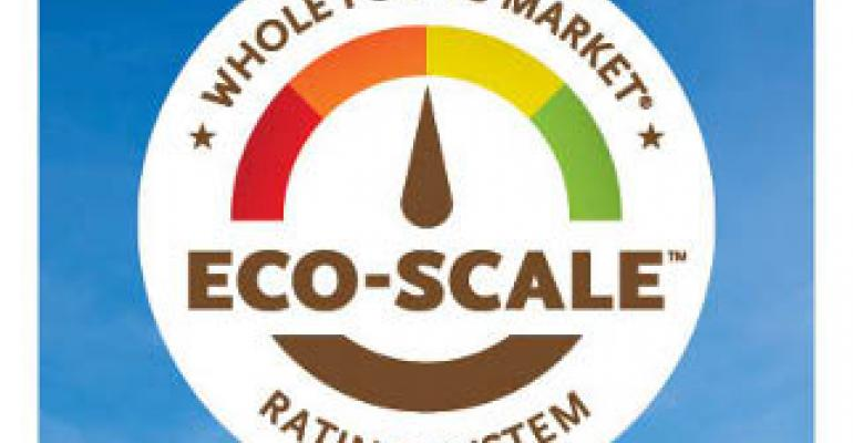 Whole Foods Market rates household cleaners and requires full ingredient disclosure on labels