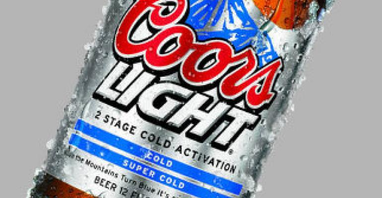 Coors Light debuts two-stage cold-indicator packaging