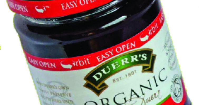 New Orbit closure makes Duerr's jam jars easier to open