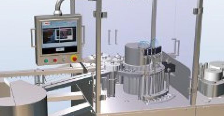 High-speed rod inserter, labeler for syringes