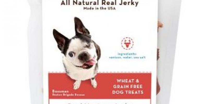 Smartdog Jerky posts pix of real rescued pups on pouch