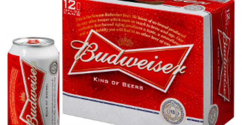 """Budweiser updates packaging graphics with new """"bowtie"""" design"""