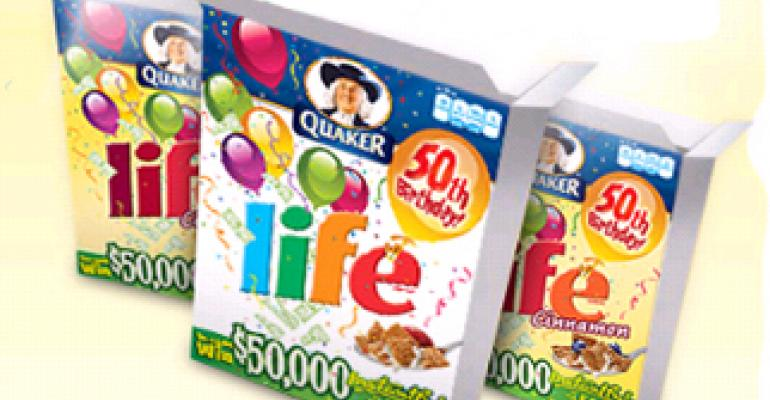 LIFE cereal celebrates 50th birthday with promotional packaging