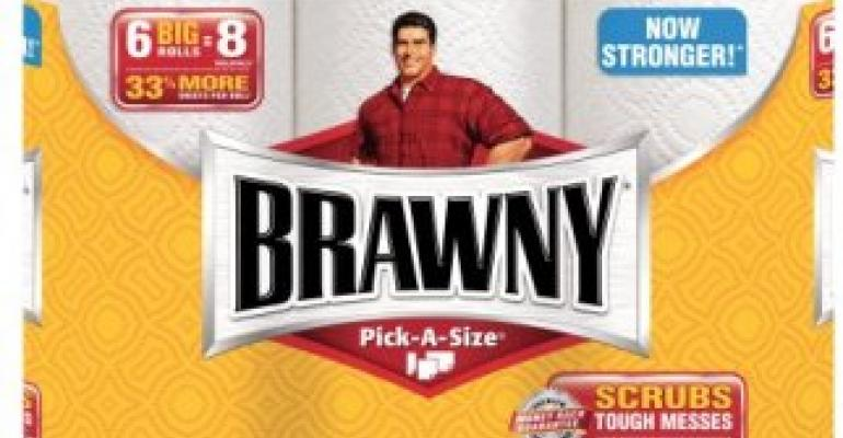Brawny redesigns packaging graphics