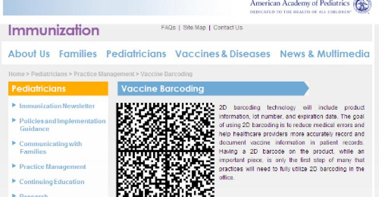 Sanofi Pasteur U.S. leads industry project to put 2D codes on vaccine packaging