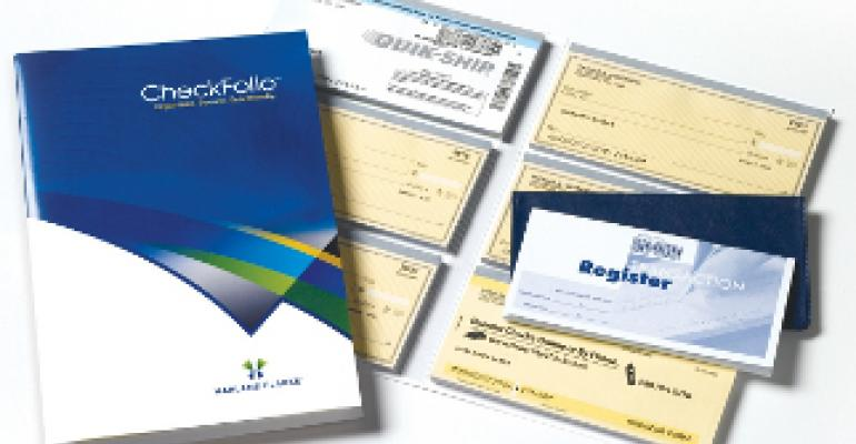 New packaging for bank checks is organized, secure, efficient