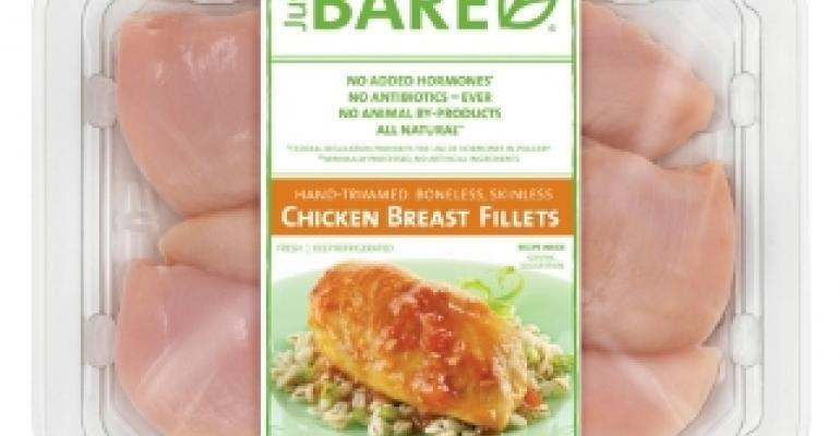Chicken packaging bears humane certification label