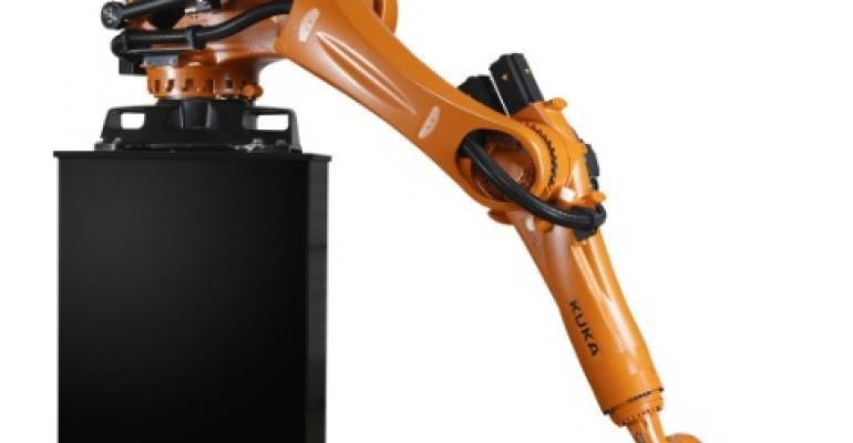 Shelf-mounted robot