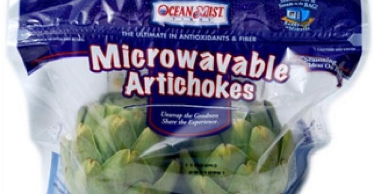 Microwavable steamer bag simplifies artichoke prep
