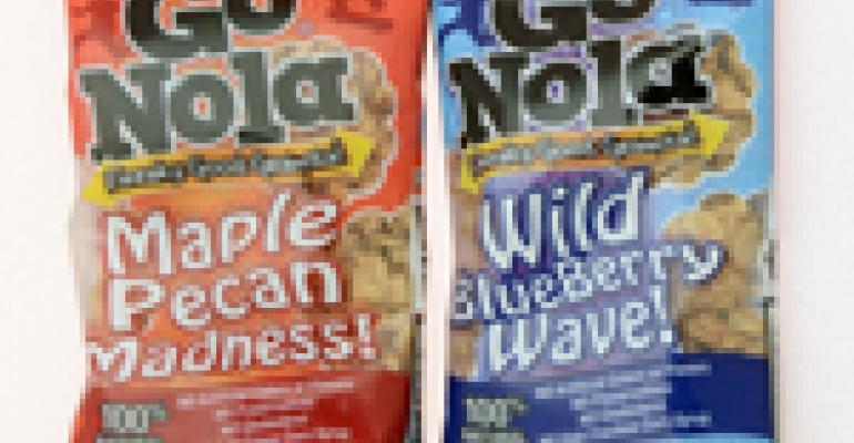 Granola offered in single-serve pouch