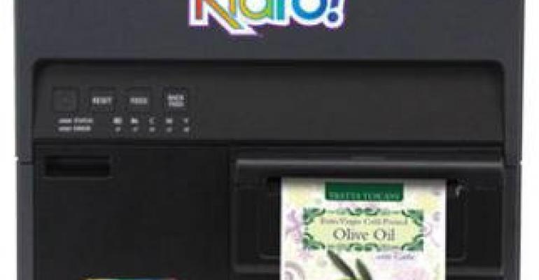 Color inkjet label printer