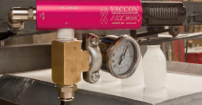Pink-colored vacuum pumps