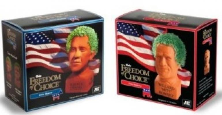 Chia Pet packaging puts candidates head to head