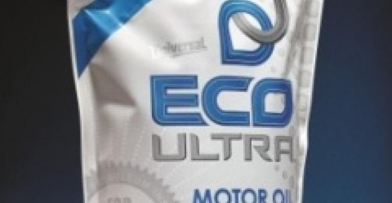Motor oil revs up in pouch packaging