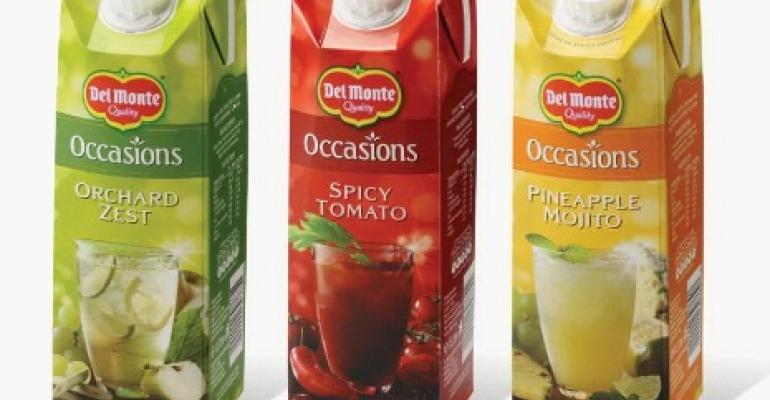 Fruit juices pour into tasty new carton packs
