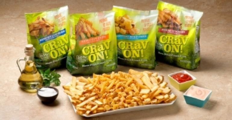 Packaging touts un-fried french fries