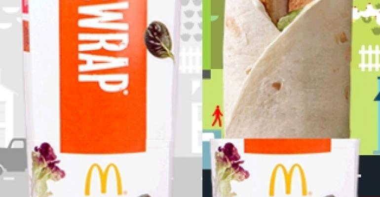 McDonald's Premium McWrap debuts in hand-held packaging