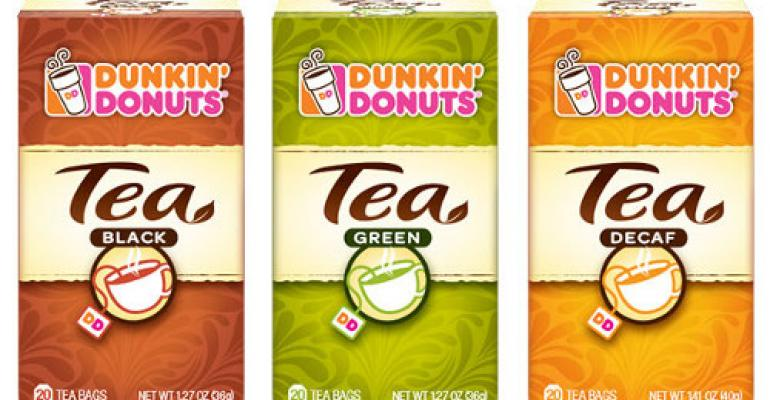 Dunkin' Donuts wakes up its tea packaging