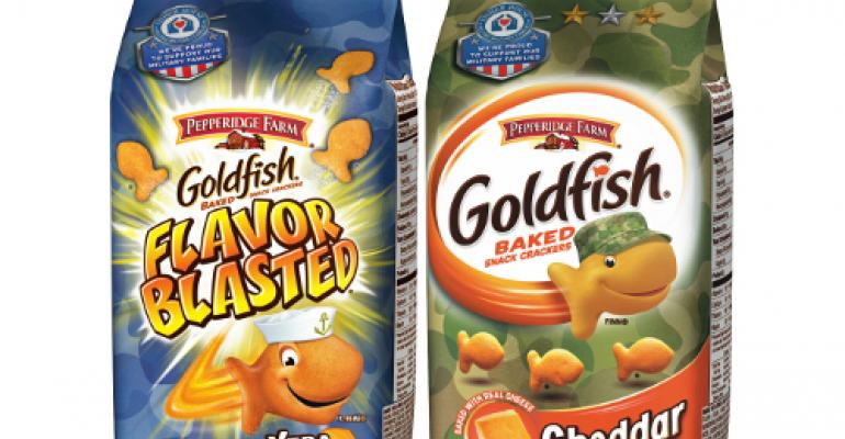 Pepperidge Farm honors U.S. military with specially-designed Goldfish packaging