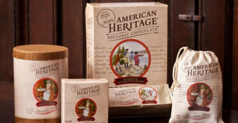Colonial-inspired packaging commemorates chocolate history