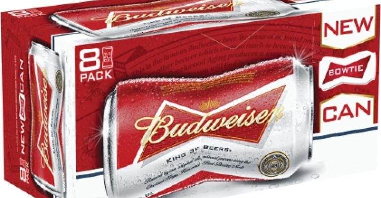 Budweiser formalizes the bow-tie can