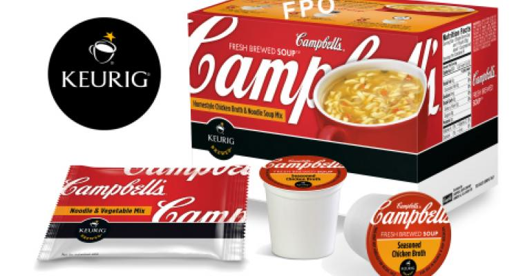 Campbell Soup partners with Keurig on K-cup packs for soup
