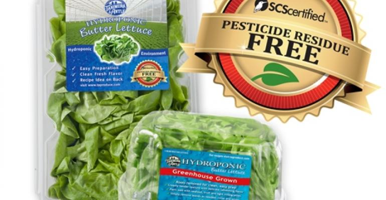 First pesticide-residue-free certification appears on lettuce labels