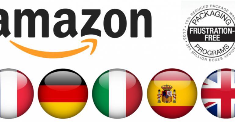 Amazon's packaging vendor incentive program crosses the pond