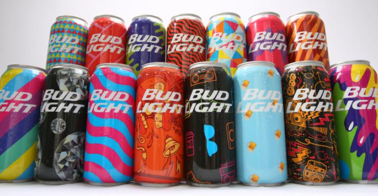 Bud Light courts music-festival goers with mass-customized cans