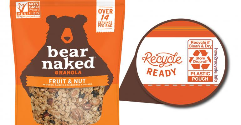 Kellogg's Bear Naked cereal pouches embrace recyclability