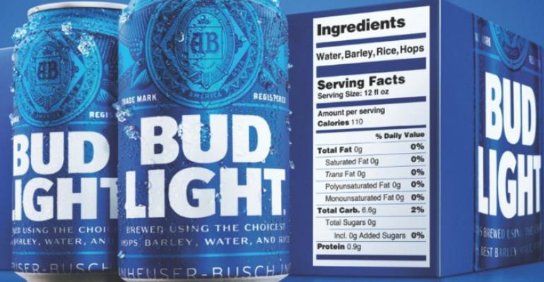 Updated Bud Light labeling toasts product transparency