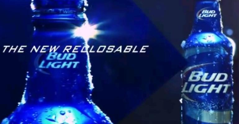 "Bud Light ""cool twist"" reclosable aluminum bottle uses Alcoa tech"