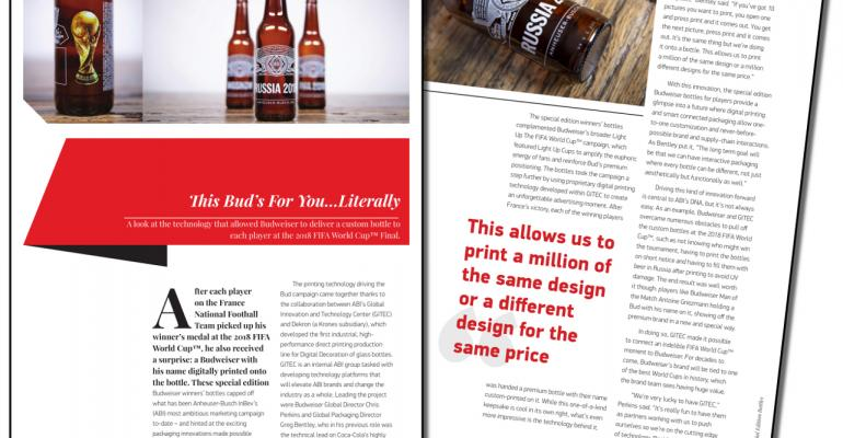 Budweiser creates custom bottles for 2018 FIFA World Cup winners