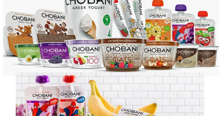 Chobani debuts yogurt in pouches and tubes