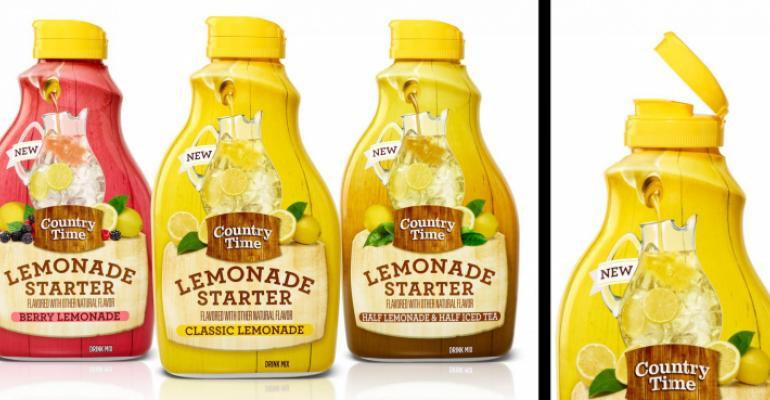 Sweet package makes Country Time Lemonade easy to prepare